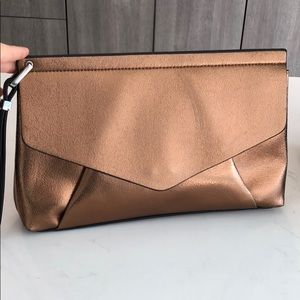 Zara copper gold cute party clutch bag handbag